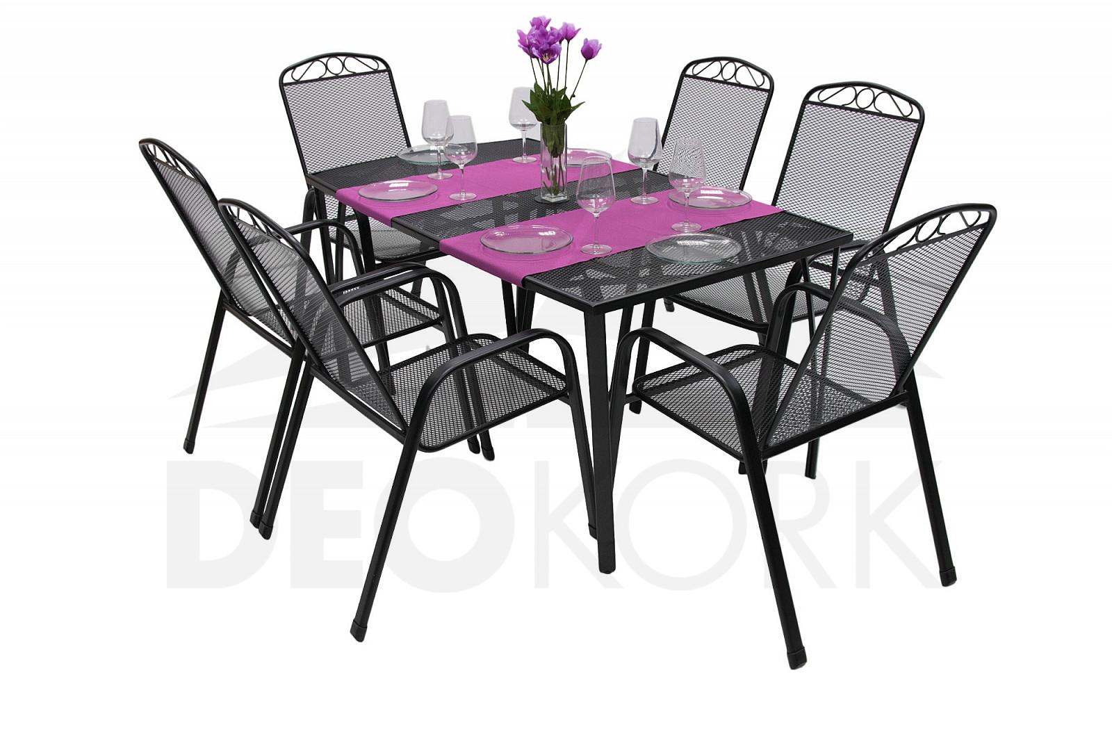 gartenm bel set aus metall river 1 6 i. Black Bedroom Furniture Sets. Home Design Ideas