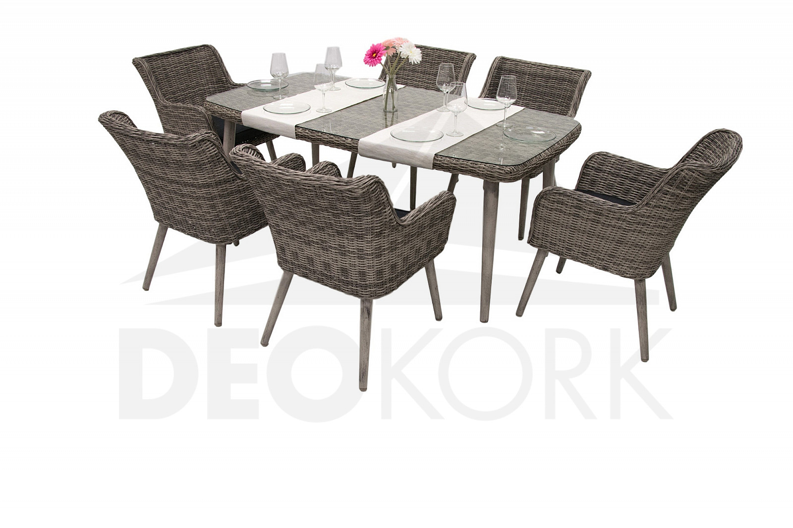 gartenm belset aus polyrattan victoria 1 6 i. Black Bedroom Furniture Sets. Home Design Ideas