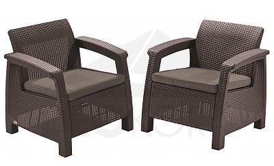 gartenm bel aus polyrattan geformter kunststoff i. Black Bedroom Furniture Sets. Home Design Ideas