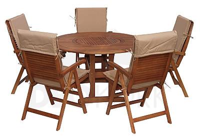 gartenm bel sets aus eukalyptusholz i. Black Bedroom Furniture Sets. Home Design Ideas